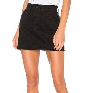 FRAME Denim's Frayed Le Mini Skirt Sz 26 Black